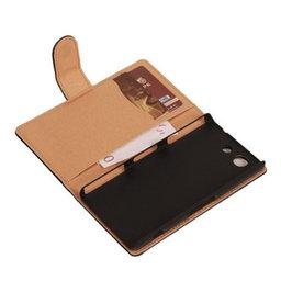 Zwart Sony Xperia Z3 Compact Bookcase Flip Cover Wallet Hoesje